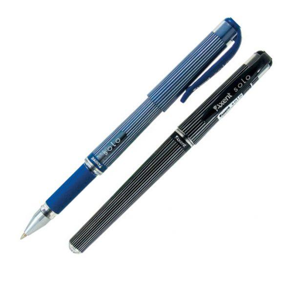 Ручка шариковая SOLO, пластиковый корпус с резиновым грипом
