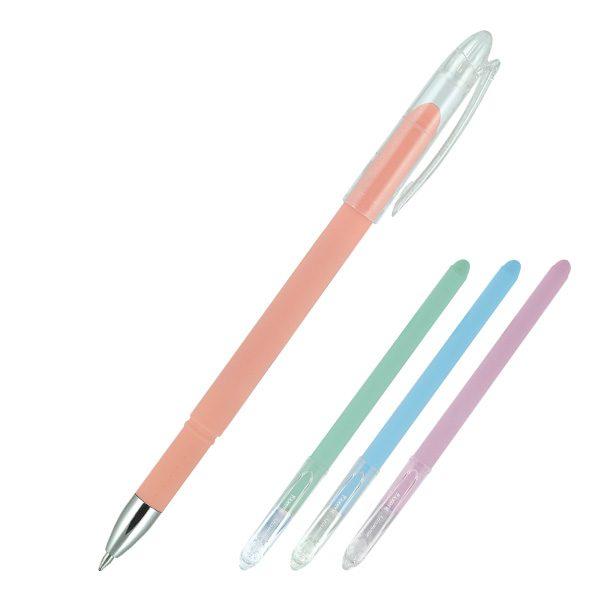 Ручка шариковая GLAMOUR, прорезиненные разноцветные корпуса, стержень синий