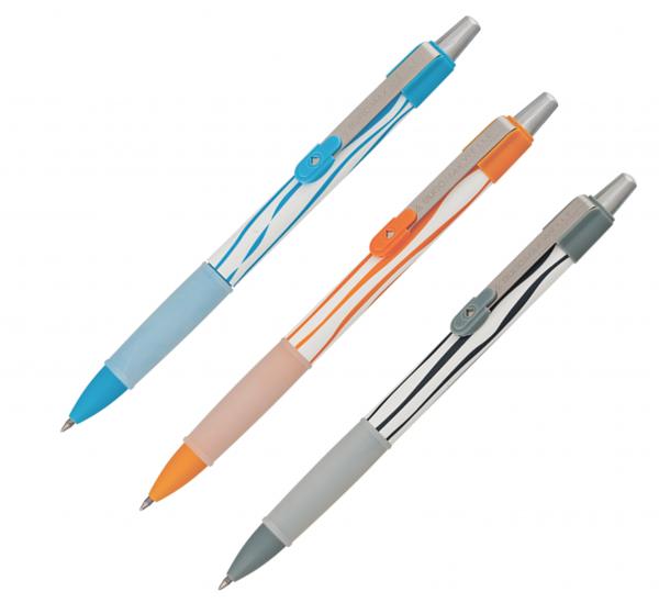Ручка гелевая автоматическая WELLE с резиновым грипом, черный стержень