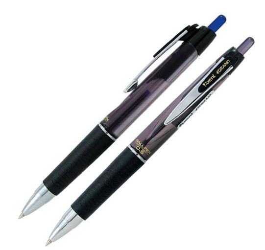 Ручка шарикова GRAND автоматическая, с резиновым грипом