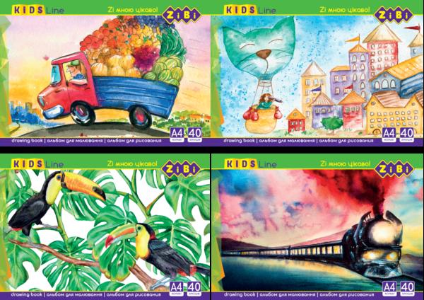 Альбом для рисования ZIBI 40 листов, на пружине