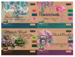 Альбом А5(скетчбук) для рисования 40 листов, на пружине, белый блок, ART LINE