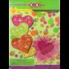 Набор цветного картона  А4, 5 цветов, 5 листов, с блестками