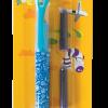 Ручка перьевая с открытым пером + 2 капсулы с чернилами, голубой корпус