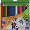 Карандаши цветные 24 цвета KIDS LINE, круглый корпус