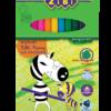 Карандаши цветные 12 цветов PROTECT, пластиковый корпус
