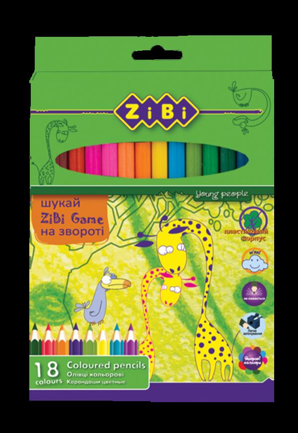 Карандаши цветные 18 цветов PROTECT, пластиковый корпус