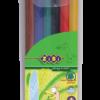 Карандаши цветные 6 цветов PROTECT, пластиковый корпус, в пенале ПВХ