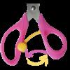Ножницы детские 138мм с поворотным механизмом 18546