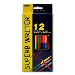 Карандаши цветные двусторонние MARCO 12шт – 24 цвета Superb Writer