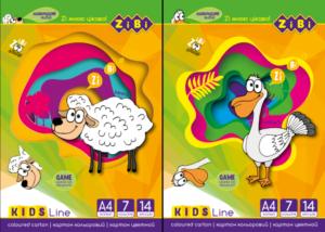 Набор цветного картона А4, 14 листов, 7 цветов, KIDS Line