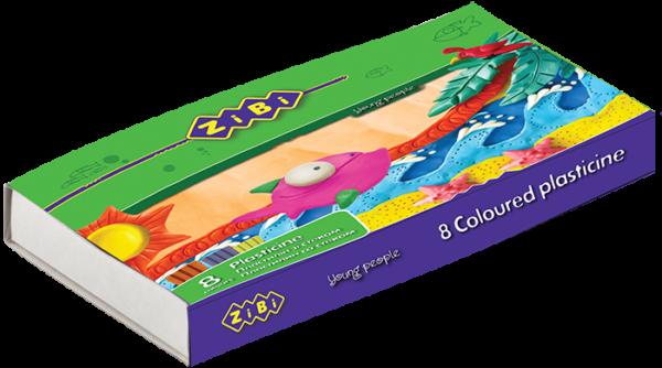 Пластилин 8 цветов, 160г.  ZB.6202 + стек