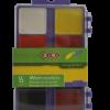 Акварельные краски 8 цветов, пластиковая коробка с крышкой