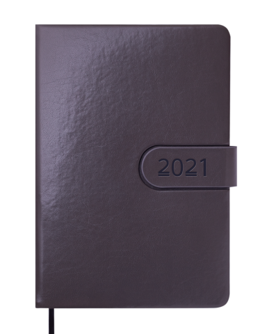 Ежедневник датированный 2021 SOLAR, А5, серый