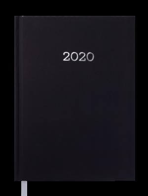 Ежедневник датированный 2020 MONOCHROME, А5, черный, твердая обложка