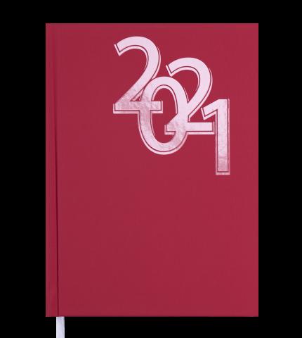 Ежедневник датированный 2022 OFFICE, А5, твердая обложка, красный