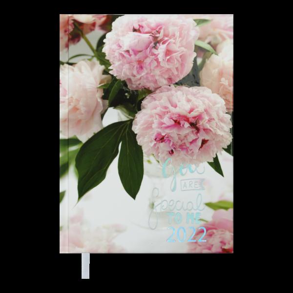 Ежедневник А5 датированный 2022 ROMANTIC, А5, розовый, твердая обложка