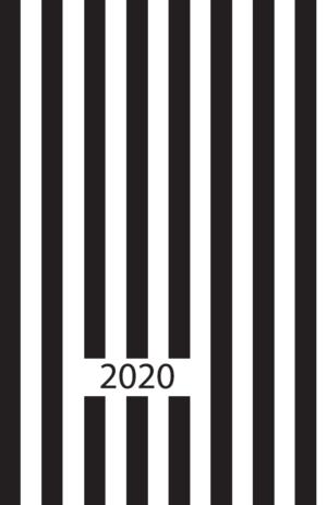 Ежедневник датированный 2020 RELAX, А5, черный, гибкая обложка