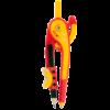 Циркуль пластиковый со шкалой 145мм, козья ножка + карандаш в наборе