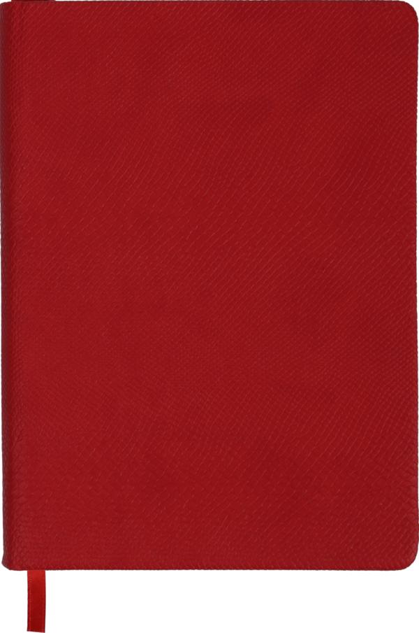 Ежедневник А5 недатированный AMAZONIA красный, золотой срез