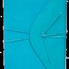 Ежедневник А5 недатированный BELLA бирюзовый, кремовый блок, на кнопке