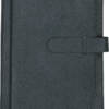 Ежедневник А5 недатированный CREDO серый, кремовый блок, на хлястике