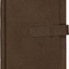 Ежедневник А5 недатированный CREDO коричневый, кремовый блок, на хлястике