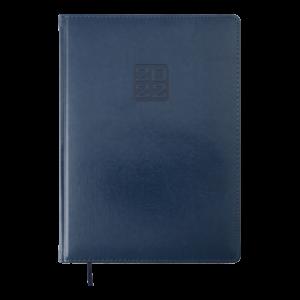 Ежедневник 2022 А4 BRAVO(Soft) датированный, синий, кремовый блок
