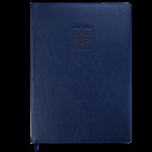 Ежедневник 2019 А4 BRAVO(Soft) датированный синий, кремовый блок