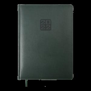 Ежедневник 2022 А4 BRAVO(Soft) датированный, зеленый, кремовый блок