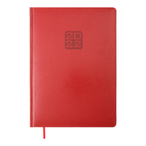 Ежедневник 2022 А4 BRAVO(Soft) датированный, красный кремовый блок