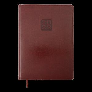 Ежедневник 2022 А4 BRAVO(Soft) датированный коричневый, кремовый блок