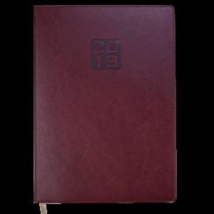 Ежедневник 2019 А4 BRAVO(Soft) датированный коричневый, кремовый блок