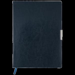 Ежедневник 2019 А4 SALERNO датированный синий, кремовый блок, гибкая обложка