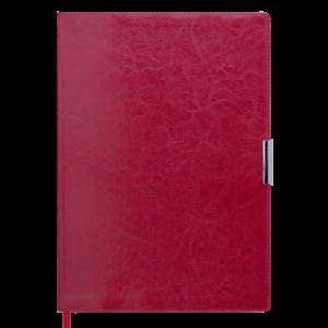 Ежедневник 2019 А4 SALERNO датированный красный, кремовый блок, гибкая обложка