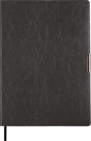 Ежедневник 2019 А4 SALERNO датированный серый, кремовый блок, гибкая обложка