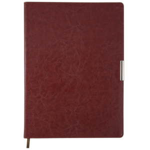 Ежедневник 2019 А4 SALERNO датированный коричневый, кремовый блок, гибкая обложка