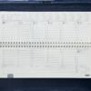 Планинг 2019 датированный SALERNO зеленый, кремовый блок 21669