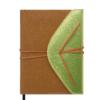 Ежедневник А5 недатированный BELLA св.коричневый с золотом, кремовый блок, на кнопке