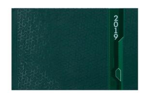 Еженедельник 2019 карманный датированный VELVET зеленый