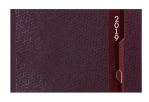 Еженедельник 2019 карманный датированный VELVET бордовый