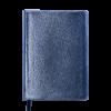 Ежедневник А5 недатированный METALLIC синий, кремовый блок