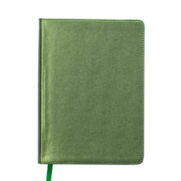 Ежедневник А5 недатированный METALLIC зеленый, кремовый блок