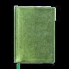 Ежедневник А5 недатированный METALLIC салатовый, кремовый блок