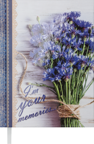 Ежедневник А5 недатированный ROMANTIC синий
