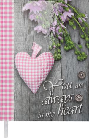 Ежедневник А5 недатированный ROMANTIC розовый