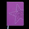 Ежедневник А5 недатированный STELLA фиолетовый, кремовый блок