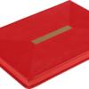 Ежедневник А5 недатированный MEANDER красный, кремовый блок 22003