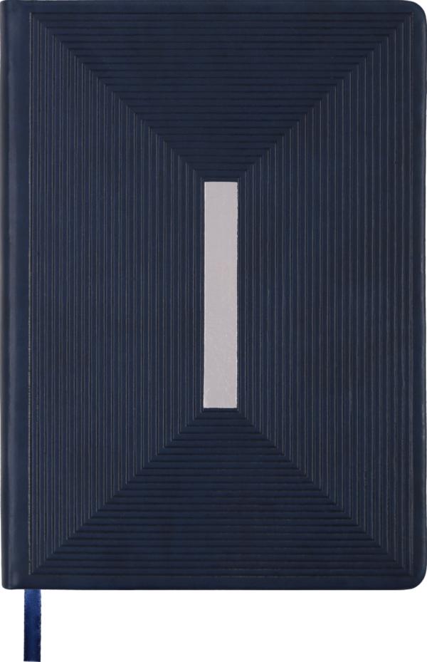Ежедневник А5 недатированный MEANDER синий, кремовый блок
