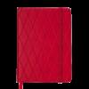 Ежедневник А5 недатированный CASTELLO красный, кремовый блок, на резиночке